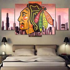 Large Framed Chicago Blackhawks Hockey Print Canvas Home Decor Wall Art
