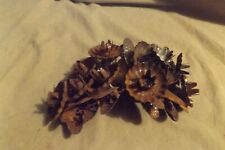 Antique Metal Christmas Tree Clip On Pinecone Candle Holder Ornaments Rusty AsIs