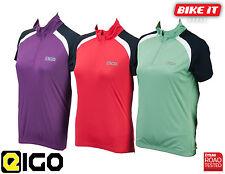 LADIES CYCLING JERSEY SHORT SLEEVE CYCLE WOMENS EIGO HELENA GREEN / RED / PURPLE