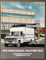 1978 Ford Parcel Delivery Van original American sales brochure