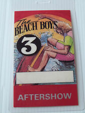 THE BEACH BOYS Laminated AFTERSHOW Backstage Tour Pass