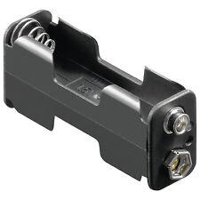 S760 - 2 Pezzi Portabatterie 2x Mignon AA Batteria batteria aperti per Clip