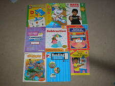 Lot of 9 Grade 2 Second Grade Workbooks Geography Math Phonics Reading Test Prep