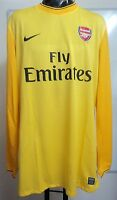 ARSENAL 09/10 PLAYER ISSUE YELLOW KEEPERS JERSEY BY NIKE ADULT  XXL BRAND NEW
