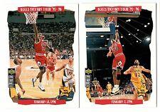 Michael Jordan 1996 Collectors Choice Bull Victory CHICAGO BULLS 2 Card Lot MINT