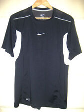 Nike Performance S/S Poly Athletic Tennis Golf Shirt-Vent Stretch Poly-Lnwot-L