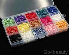 15 Colours Total 3000pcs Half Pearls 5mm Flat Back