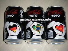 2014 Hongkong coca cola zero WORLD CUP 3 cans set 330ml empty