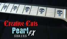 Punisher Skull BLACK PEARL Fretboard Marker Inlay Stickers for BASS and GUITAR