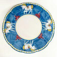 """Solimene Vietri Cavello Horse Pattern 11.5"""" Diameter Dinner Plate B"""