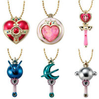 """Sailor Moon 2 """"Little Charm"""" Keychain Accessory 6 Type Complete Set from Japan"""