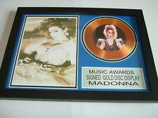 MADONNA  SIGNED  GOLD  DISC  Y
