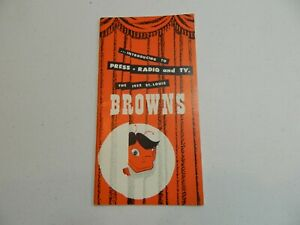 1952 St. Louis Browns Press Radio and TV Media Guide Satchel Paige Hornsby Veeck