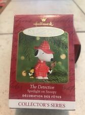 Hallmark Christmas Ornament: The Detective: Snoopy 2nd in series New In Box