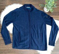 Smartwool Merino Wool Full Zip Sweater Jacket Blue Mens L