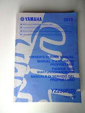 PROPIETARIO MANUAL DE SERVICIO 2010 YAMAHA WRF 250 2007-13 Muy