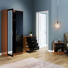 High Gloss Bedroom Furniture Set 3 Pcs Wardrobe Chest Of Drawers Bedside Tables