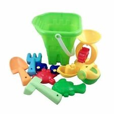 Beach Toys - 9 Pieces Green Bucket Set (TY012)