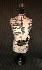 Parisian Home Jewelry Display Linen Covered Mannequin Paris Theme Print