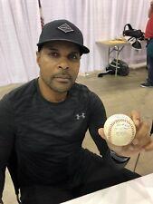 Barry Larkin Cincinatti Reds Jersey Retirement Game Used Baseball PROOF PIC L@@K