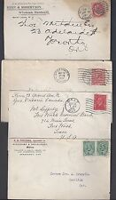 Canada 1890 1930's Collection Of 11 Covers Various Franking 3 Are Cover Fronts