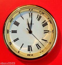 GERMAN MADE QUARTZ CLOCK INSERT 35MM SOLID BRASS & BATTERY