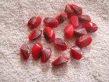 Lot 19 Art Deco Red Glass Buttons