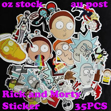 35PCS Different Rick and Morty Stickers Decal Style Character Decoration Paper