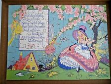 Vintage Victory Wooden Jigsaw Puzzle  100pcs Nursery Rhyme Little Miss Muffet