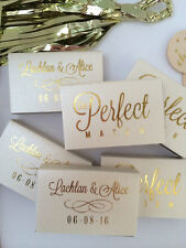 Personalized Wedding Matches Custom Printed Lot of Colors to Choose from QUALITY