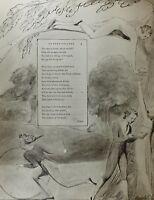 1922 Completo Talla William Blake Grande Estampado Thomas GRAY'S Poema Ode Eton