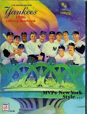 NEW YORK YANKEES - 1986 OFFICIAL YEARBOOK - 128 pages / many photos