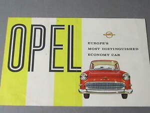 1957 Rekord & Caravan Automobile Sales Brochure - EXCELLENT Orig!