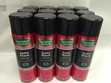 SATIN BLACK SPRAY PAINT 500ML AEROSOL X 24