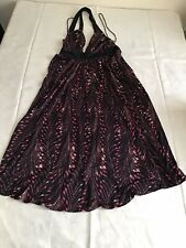 Temperley London Multicoloured 100% Silk Sleeveless Mid Dress Size UK8 -