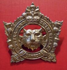QC CANADA Canadian Armed Forces Argyll & Sutherland Highlanders cap badge