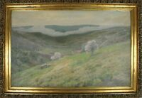 A3-054. RURAL LANDSCAPE. OIL ON CANVAS. SIGNED J. VANCELLS. 1900.