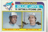 FREE SHIPPING-MINT-1982 Topps #606 John Mayberry Dave Stieb Toronto Blue Jays