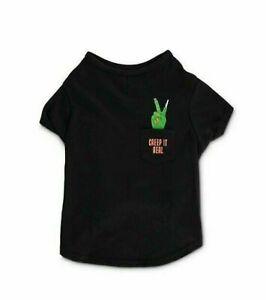 Bootique - Creep it Real Pet/Dog Crewneck T-Shirt (Large) - New (Halloween)