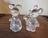 Lenox Disney Lead Crystal Mickey& Minnie Collectible Salt & Pepper Shakers * NWT