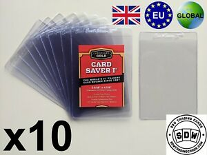 NEW x 10 Cardboard Gold Card Saver I 1 PSA Grading Submission Plastic Semi Rigid