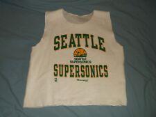 VTG 90's Champion Seattle SONICS sleeveless sweat shirt gym work out NBA