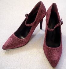 M&S Insolia Ladies Sparkly Pink Glittery Evening Shoes High Heels UK 7  EU 40.5