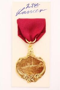 WHITE STAR LINER TITANIC RESCUE SHIP RMS CARPATHIA NAVY GOLD LIFE SAVING MEDAL