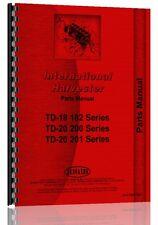 International Harvester Crawler Parts Manual Ih P Td18 182