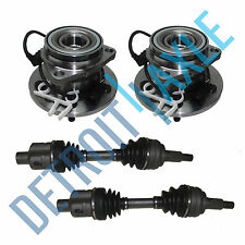 2 Front CV Axle Shaft + 2 NEW Front Wheel Hub Ass'y for Astro & Safari w/ABS AWD