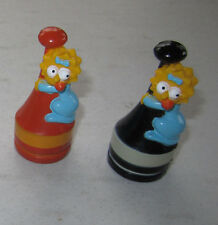 Simpsons Maggie Simpson 3-D Pawn Chess Piece Set of 2 - Black Red