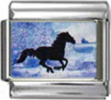 HORSE SILHOUETTE Photo Italian 9mm Charm HO053 Fits Nomination Classic