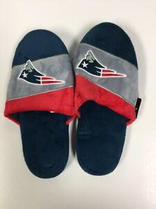 New England Patriots Mens Colorblock Slide Slippers