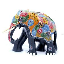 Hand carved wooden Elephant Ceylon Handicraft 100% Natural Home decoration